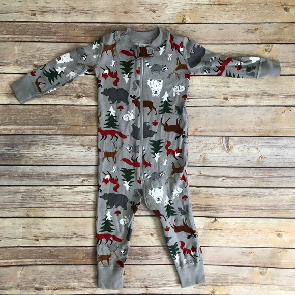 Hanna Andersson PJ Kitty Baby Sleeper Pure Organic Cotton size 12 18 months NWT